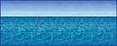 Beistle 52027 30' Ocean & Sky Backdrop
