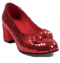 Ellie Shoes 149368 Judy Sequin (Red) Adult Shoes - 10
