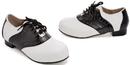 Ellie Shoes 101SaddleBlk/WhtL Saddle (Black/White) Child Shoes, Large (2-3)