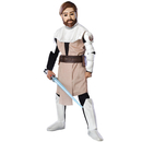 Rubies Costumes 883197-000-S Star Wars Animated Deluxe Obi Wan Kenobi Child Costume