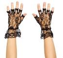 Forum Novelties 62152 Black Lace Fingerless Gloves