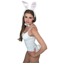 Rubies Costumes 154634 White / Pink Bunny Accessory Kit (Adult)