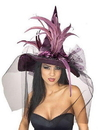 Rubies Costumes 154992 Purple Feather Adult Witch Hat