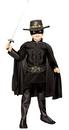 Zorro Muscle Chest Deluxe Child Costume size - 4-6