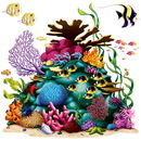 Beistle 52076 Coral Reef Props Add-On