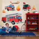 Party Destination Fire Trucks Giant Wall Decals