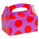 Birthday express 173816 Purple with Red Dots Empty Favor Boxes