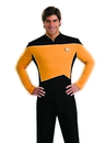 Rubies Costumes 888980-000-M Star Trek Next Generation Gold Shirt Deluxe Adult Costume