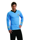 Rubies Costumes 888983-000-L Star Trek Classic Blue Shirt Deluxe Adult Costume