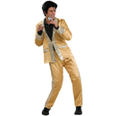 Rubies Costumes 889141-000-L Elvis Gold Satin Suit Deluxe Adult Costume