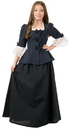 Charades Costumes 00255XL Colonial Girl Child Costume, X-Large (12-14)