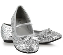 185852 STAR-16GC-Silver-2/3 Sparkle Ballerina (Silver) Child Shoes, Large (2/3)