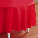 Creative Converting 192639 Classic Red (Red) Round Plastic Tablecover