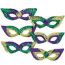 Amscan 192811 Mardi Gras Sequin Party Masks (Pack of 6)