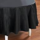 Creative Converting 192827 Black Velvet (Black) Round Plastic Tablecover