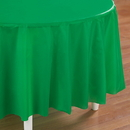Creative Converting 192869 Emerald Green (Green) Round Plastic Tablecover