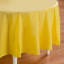 Creative Converting 192925 Mimosa (Light Yellow) Round Plastic Tablecover