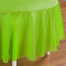 Creative Converting 192936 Fresh Lime (Lime Green) Round Tablecover