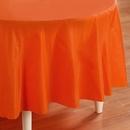 Creative Converting 192950 Sunkissed Orange (Orange) Round Plastic Tablecover