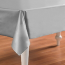 Creative Converting 192987 Shimmering Silver (Silver) Plastic Tablecover