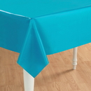 Creative Converting 193001 Bermuda Blue (Turquoise) Plastic Tablecover