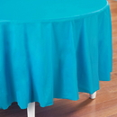 Creative Converting 193005 Bermuda Blue (Turquoise) Round Plastic Tablecover