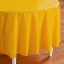 Creative Converting 193032 School Bus Yellow (Yellow) Round Plastic Tablecove