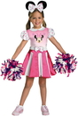 Disguise 198306 Mickey Mouse Clubhouse - Minnie Mouse Cheerleader Toddler / Child Costume - Small (4/6x)