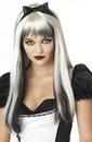 California Costumes 70061 Enchanted Tresses (Black / White) Adult Wig