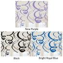 Amscan 201914 Multi-Color Plastic Swirl Decorations (12)