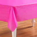 Amscan 202169 Bright Pink Plastic Tablecover