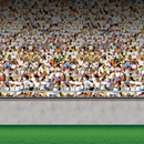 Beistle 203387 30' Lower Deck Stadium Backdrop