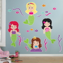 Party Destination 206490 Mermaids Giant Wall Decals