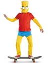 Disguise 214169 The Simpsons Bart Simpson Deluxe Child Costume, Large (10/12)