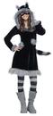 Fun World 215061 Sweet Raccoon Teen Costume, 0-9