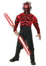 Rubies 216221 Stars Wars Deluxe Muscle Chest Darth Maul Child Costume, Small (4-6)