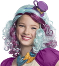 Rubies Costumes 219266 Ever After High - Madeline Hatter Wig with Headpiece, Standard One Size