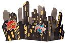 Birthday Express 229429 Superhero Comics Standup City Scape