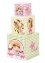 BirthdayExpress 231708 Pink Cowgirl 1st Birthday Building Blocks Centerpiece