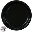 Creative Converting 234022 Black Velvet (Black) Dessert Plates
