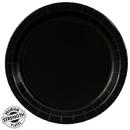 Creative Converting 234472 Black Velvet (Black) Dinner Plates