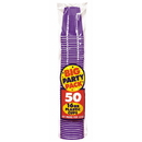Amscan 235354 New Purple Big Party Pack 16 oz. Plastic Cups
