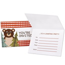 Party Destination 235626 Let's Go Camping Invitations