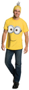 Rubies Costumes 810785-000-L Minions Movie: Minion Adult Shirt & Headpiece