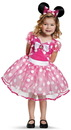 Disguise 243489 Pink Minnie Mouse Deluxe Tutu Toddler Costume, 3T-4T