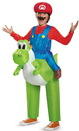 Disguise 243784 Super Mario Bros: Mario Riding Yoshi Inflatable Child Costume, Standard One Size