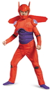 Disguise 243819 Big Hero 6: Baymax Deluxe Muscle Child Costume, Medium (7-8)