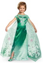 Disguise 244252 Elsa Frozen Fever Deluxe Child Costume, Large