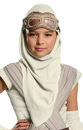 Rubies Costumes 244382 Star Wars Episode VII - Girls Rey Eye Mask With Hood, One-Size