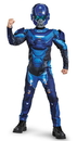 Disguise 245163 Halo Blue Spartan Classic Muscle Child Costume, Large